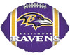"18"" Baltimore Ravens Football Shape Mylar Foil Balloon"