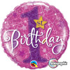 "18"" 1st Birthday Stars Pink  Mylar Foil Balloon"
