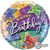 "18"" Birthday Lightning Bolt  Mylar Foil Balloon"