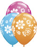 "11"" Contemporary Daisies Assortment Latex Balloons"