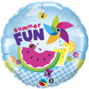 "18"" Summer Fun Picnic  Mylar Foil Balloon"
