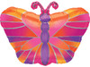 "18"" Hot Pink Butterfly Junior Shape Mylar Foil Balloon"