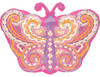 "18"" Paisley Pink Butterfly Junior Shape Mylar Foil Balloon"