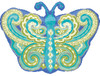 "18"" Paisley Teal Butterfly Junior Shape Mylar Foil Balloon"