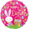 """18"""" Playful Easter Bunny  Mylar Foil Balloon"""
