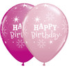 "11"" Birthday Sparkle Pink & Wild Berry Assortment Latex Balloons"