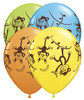 "11"" Mischievous Monkeys Assortment Latex Balloons"