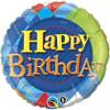 """18"""" Birthday Tartan Plaid  Mylar Foil Balloon"""
