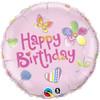 "18"" Birthday Fashion Pink  Mylar Foil Balloon"