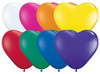 "6"" Hearts Jewel Assortment Latex Balloons - Bag of 100"