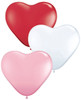 "6"" Hearts Sweetheart Assortment Latex Balloons - Bag of 100"