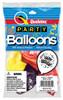 "11"" Festive Assortment Latex Balloons - 8 Count Bag"