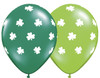 "11"" Big Shamrocks Assortment Latex Balloons"