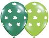 "11"" Big Shamrocks Assortment Latex Balloons"