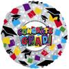 "18"" Grad Hats & Confetti Mylar Foil Balloon"