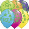 "11"" Tropical Flora Assortment Latex Balloons"
