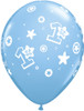 "11"" 1st Birthday Circle Boy  Latex Balloons"