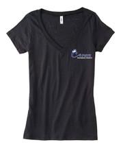 Women's short sleeve V neck Black