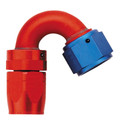 150˚ Elbow Fitting - Reusable Red/Blue Anodized Aluminum Swivel S.A.E. 37˚ (JIC/AN)