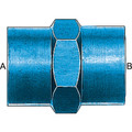 Pipe Coupling (AN 910) - Aluminum Blue Anodized
