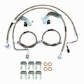 """Ford F-250, F350 4WD, SRW, 2011-2012 W/ DOUBLE REAR 0""""-3"""" Lift - Stainless Steel Brake Line Kit"""