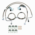 """Ford F-250, F350 4WD, SRW, 2011-2012 W/ DOUBLE REAR 4""""-6"""" Lift - Stainless Steel Brake Line Kit"""