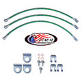 "Jeep CJ5, CJ7 Disc Brakes 1976-1981 3""-4"" Lift - Stainless Steel Brake Line Kit"