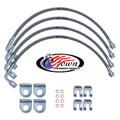 """Jeep JK Wrangler 2007-2010 3""""-4"""" Lift - Stainless Steel Brake Line Kit"""