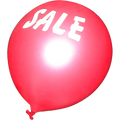 RED SALE BALLONS W/ SALE IN WHITE PACK OF 20