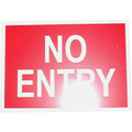 A5 Poly Sign (NO ENTRY)