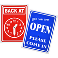 Back at Clock / OPEN Sign