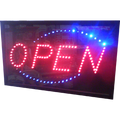 LARGE OPEN SIGN IN 2 COLOURS 695x395mm