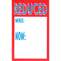 Shelf Talkers 'Reduced was: now:' Red