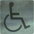 Stainless Steel Wall Sign - Disabled Access / Amenities