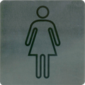 Stainless Steel Wall Sign - Ladies/Female Amenities