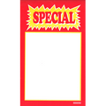 "Shelf talker ""Special"". Red"