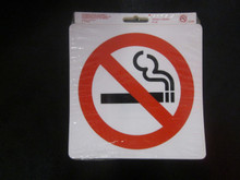 DISCOUNTED BARGAIN!!!! $2 pkt 10. N Smoking Stickers 152 x 152mm While stocks last!