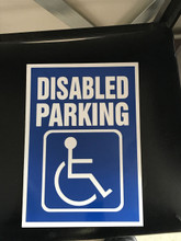 A 4 Disabled Parking Sign