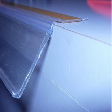 Clear hinged Data strip 1200 by 26 mm