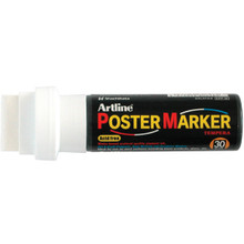White 30 mm Poster Marker