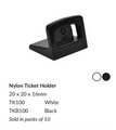 Black Nylon Ticket Holder