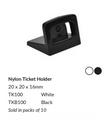 Black Nylon Ticket Holder