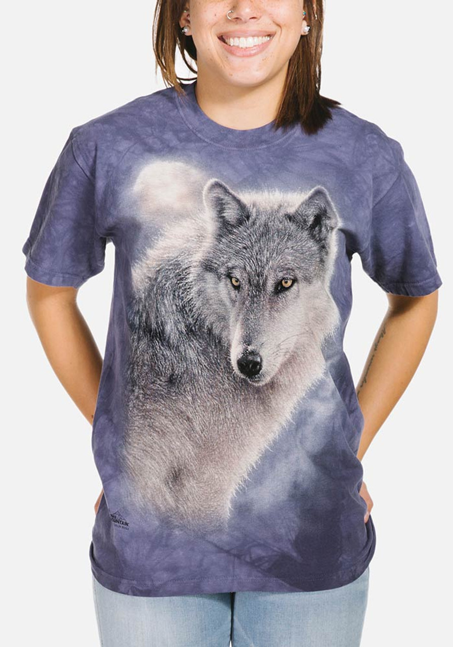 the mountain adventure wolf t shirt. Black Bedroom Furniture Sets. Home Design Ideas