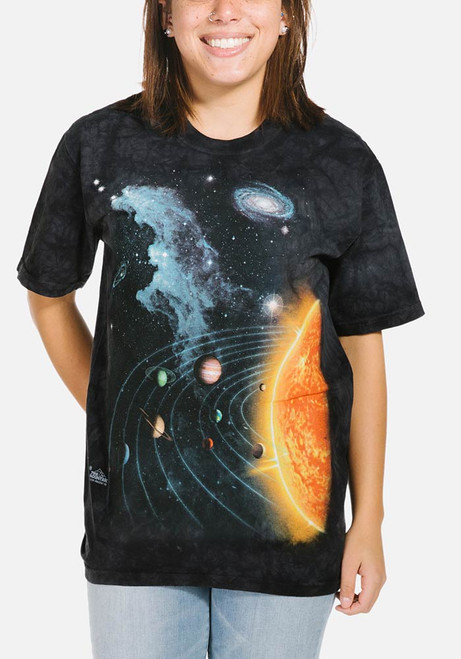 Solar System T-Shirt Modeled