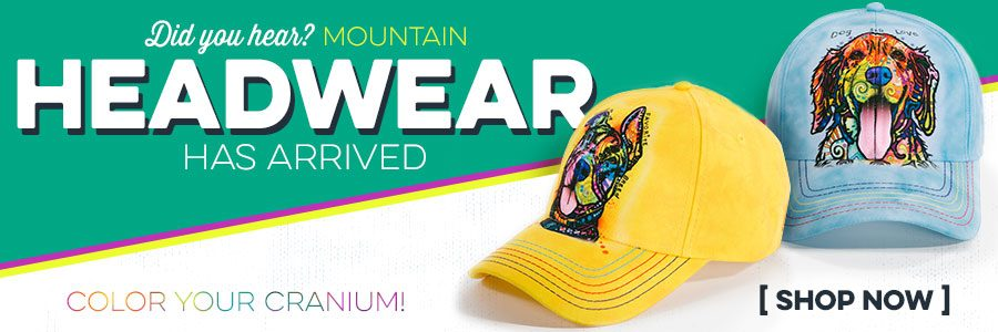 New Mountain Headwear! Featuring the art of Dean Russo.