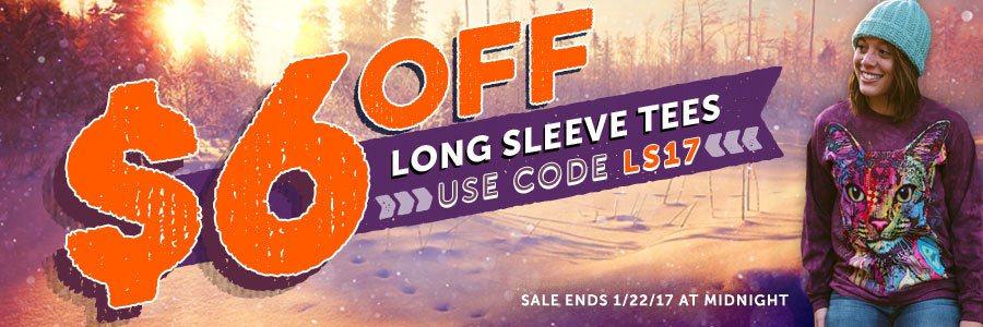 Long Sleeve tee sale - save $6!