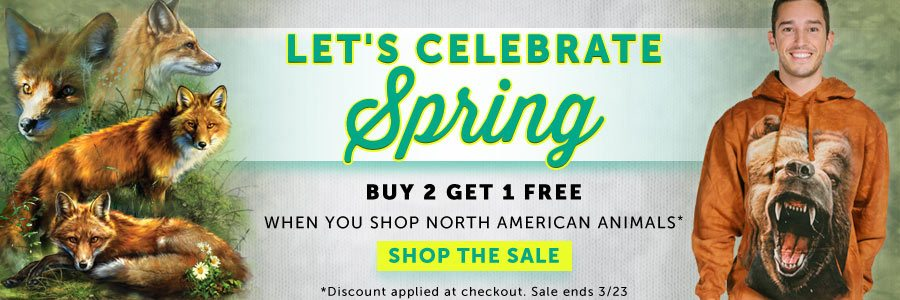 Buy 2 Get 1 Free! Shop the North American Animal Collection Now!