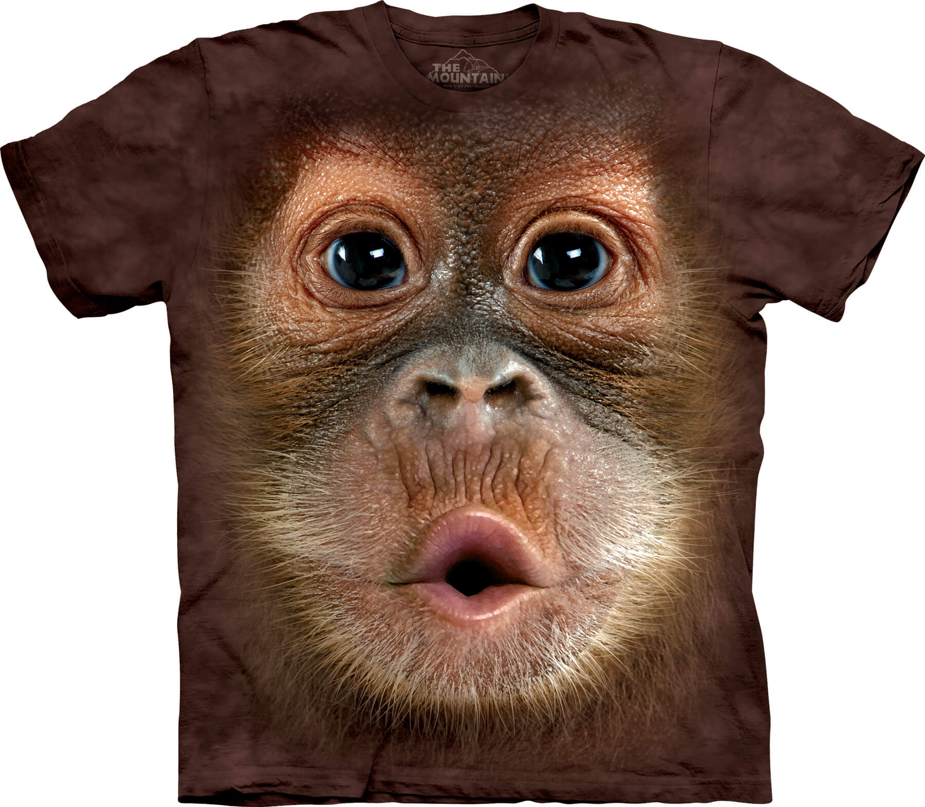 Big Face Baby Orangutan Kids T-Shirt