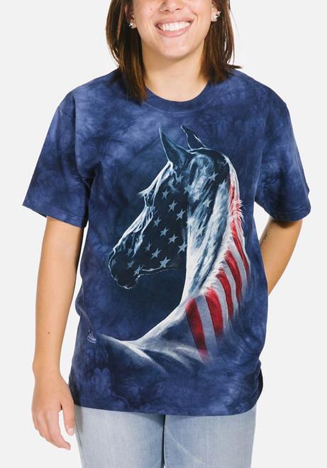Patriotic Horse Head T Shirt