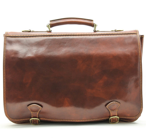 Florence Messenger Bag | Front | Color Brown